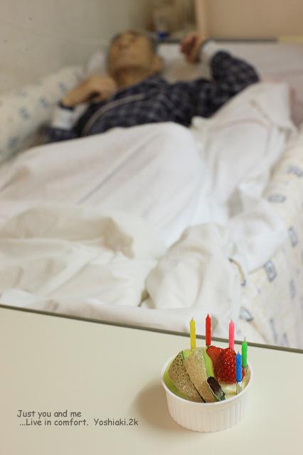 翌 12月23日は親父の70歳の誕生日でした 千疋屋で買ってきた親父の好きなメロンのババロア 結局 この日は薬のせいもあり寝たままで食べれませんでした
