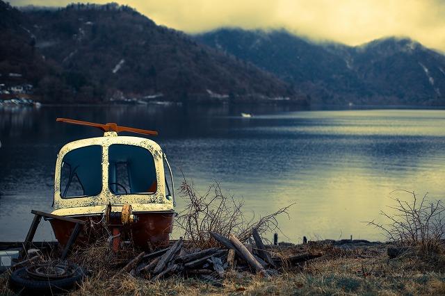 中禅寺湖にて