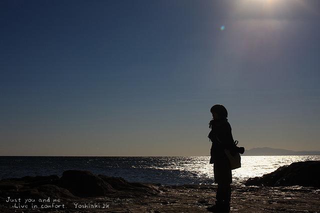 正月の江の島 空気が澄んでて気持ちいい空です