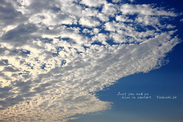 ちょっとの時間で空が変わってくるんだよね