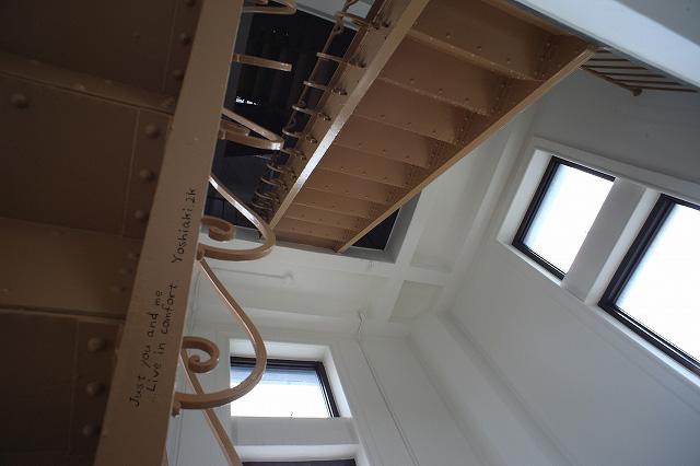 そんなにキツクナイ階段が続いてました